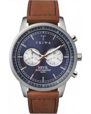 Mens Triwa Blue Steel Nevil 2.0 Chronograph Watch NEST108:2-SC010216