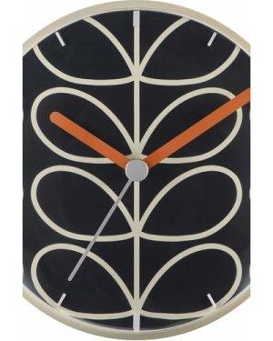 Orla Kiely Clocks Dark Grey Wall Clock OK-WCLOCK03