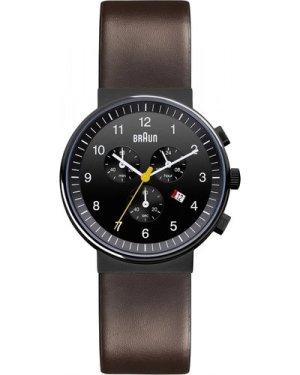 Mens Braun Chronograph Watch BN0035BKBRG