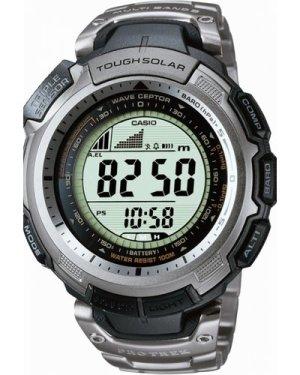 Mens Casio Pro Trek Wave Ceptor Titanium Alarm Chronograph Radio Controlled Watch PRW-1300T-7VER