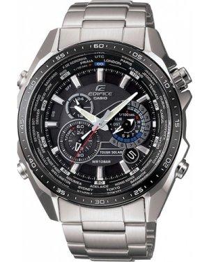 Mens Casio Edifice Solar Alarm Chronograph Watch EQS-500DB-1A1ER