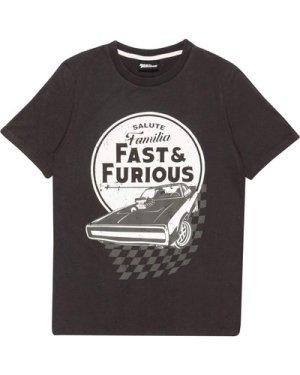 Fast And Furious Salute Familia Men's Acid Wash T-Shirt