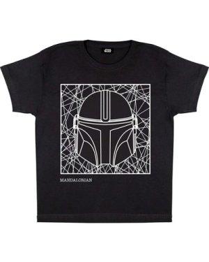 Star Wars The Mandalorian Helmet Line Drawing Boys T-Shirt