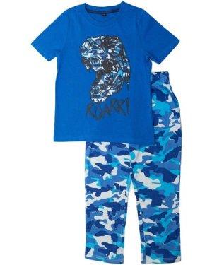 Popgear Dinosaur Roar Camo Boys Long Pyjamas Set