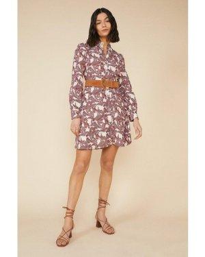 Womens Paisley Shirt Dress