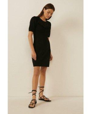 Womens Lace Yoke Knit Dress