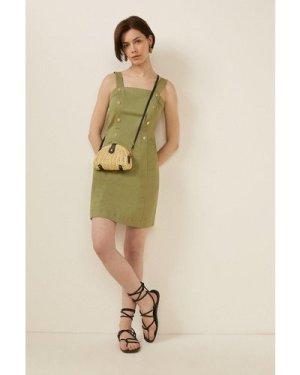 Womens Denim Twill Mini Dress