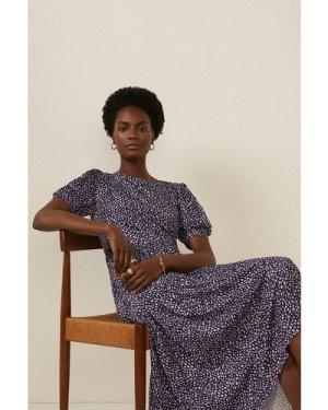 Womens Elma Texture Pleated Midi Dress