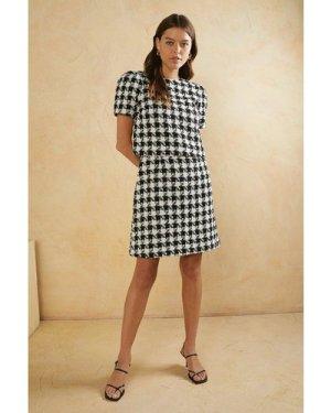 Womens Tailored Boucle Dress