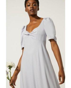 Womens Twist Front Bias Cut Maxi Dress