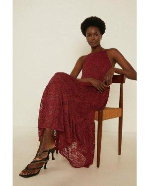 Womens Trapeze Lace Midaxi Dress