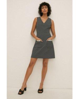 Womens Patterned Shift Dress