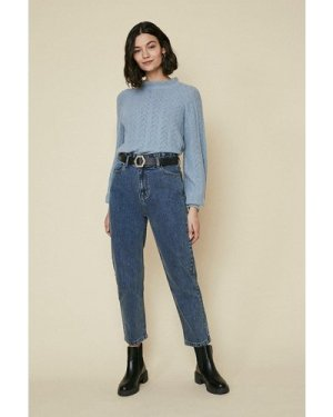 Womens Paperbag Tapered Jean