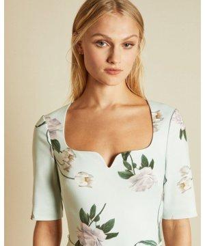 Elderflower Fitted Dress