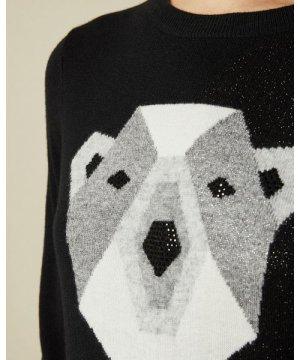 Cashmere Blend Polar Bear Sweater