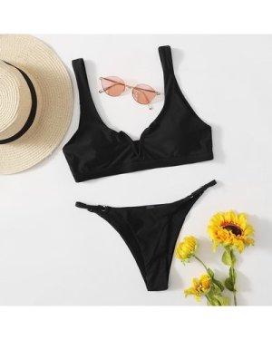 V Wired Tanga Bikini Swimsuit