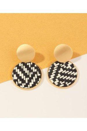 1pair Braided Round Earrings