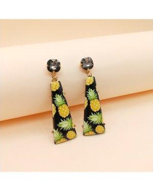 1pair Fruit Pattern Geometric Drop Earrings