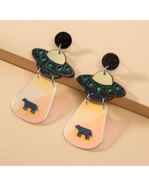 UFO Spaceship Earrings