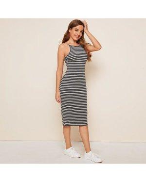 Two Tone Striped Cami Dress