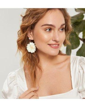 1pair Floral Drop Earrings