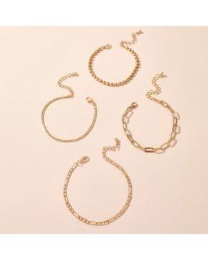 4pcs Metal Chain Bracelet