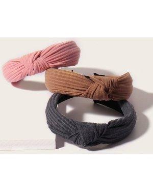 3pcs Knot Decor Headband