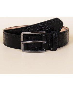 Croc Pattern Buckle Belt
