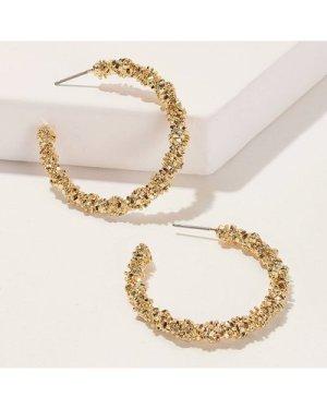Glitter Hoop Earrings 1pair