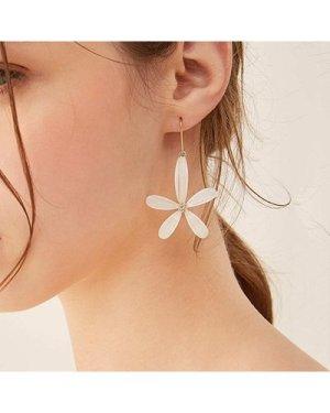 Flower Shaped Drop Earrings 1pair