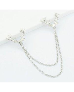 Metal Deer Head Chain Collar Tips