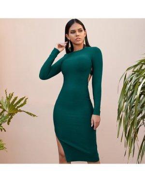 Cut Out Back Split Side Dress