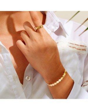 Disc Design Cuff Ring & Bracelet 2pcs