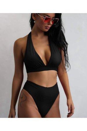 Halter High Leg Bikini Swimsuit