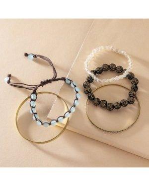 Beaded & Braided String Bracelet