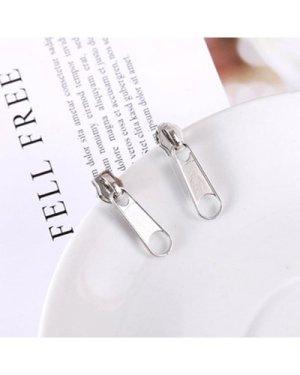 Zipper Head Design Drop Earrings 1pair