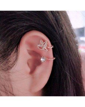 Bird & Round Design Ear Cuff 1Pc