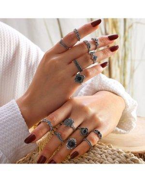 14pcs Bohemian Rings Set