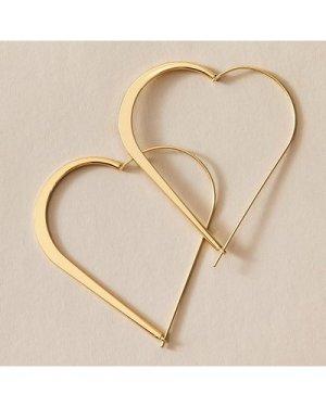 1pair Heart Hoop Earrings