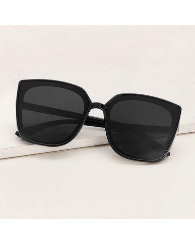 Plain Frame Flat Lens Sunglasses
