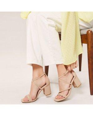 Square Open Toe Strappy Block Heel Sandals