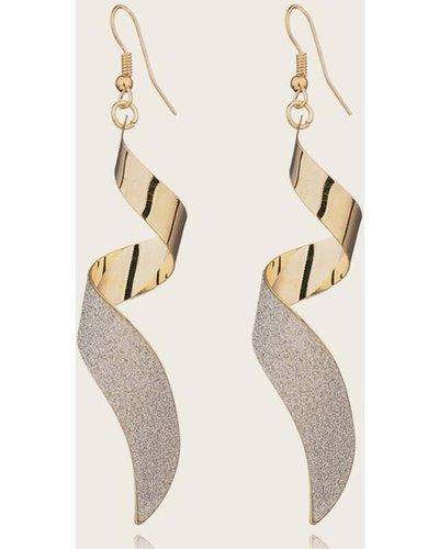 1pair Spiral Drop Earrings