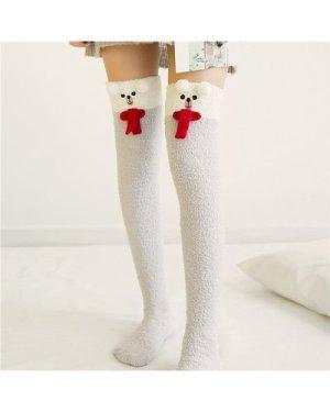 1pair Cartoon Graphic Knee Length Socks
