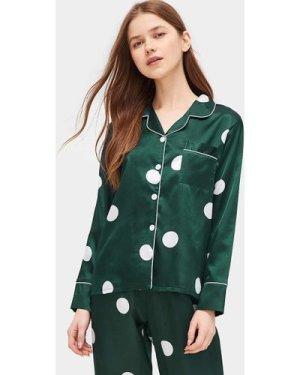 Polka Dot Satin Pajama Set