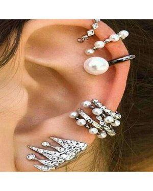 Faux Pearl Ear Cuff 9pcs