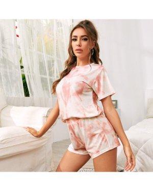 Tie Dye Tee & Shorts Pajama Set