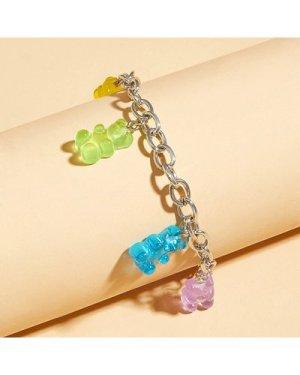 1pc Bear Charm Chain Bracelet