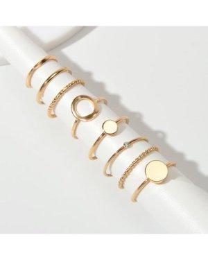 8pcs Simple Geometric Decor Ring