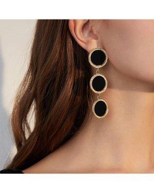 1pair Round Drop Earrings