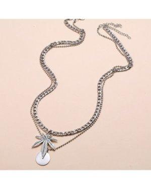 2pcs Disc Charm Necklace